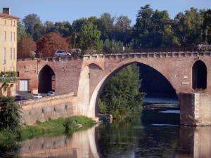 Montauban - One of the arcades of the Pont Vieux bridge spanning River Tarn