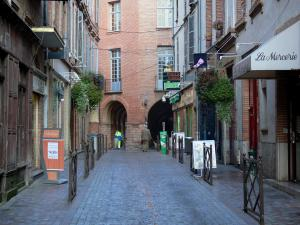 Montauban - Shopping street lined with shops