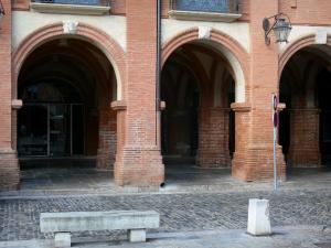 Montauban - Arcades of the Place Nationale square
