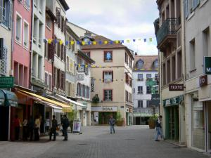 Montbéliard - Houses and shops of the Febvres street (old town)