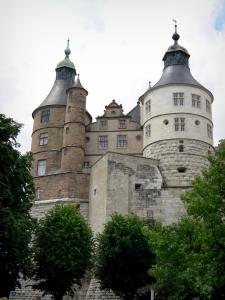 Montbéliard - Towers of the castle of the Dukes of Wurtemberg home to a museum