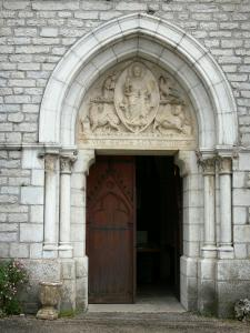 Montbenoît abbey - Portal of the abbey church