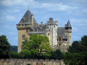 Montfort castle - Castle surrounded by trees, in the Dordogne valley, in Périgord