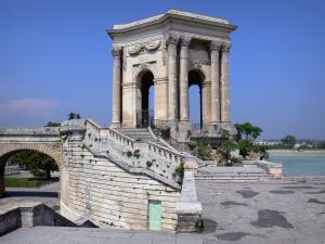 Montpellier - Peyrou promenade, water reservoir and Saint-Clément aqueduct