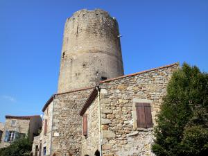 Montpeyroux - Keep (tower) and stone houses of the medieval village