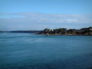 Morbihan Gulf   Coast Decorated With Forests And Houses, Sea