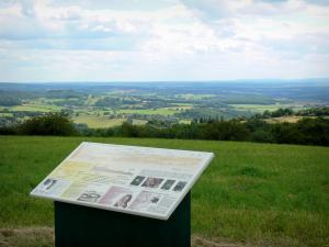 Morvan Regional Nature Park - View from the viewpoint indicator of Mount Justice