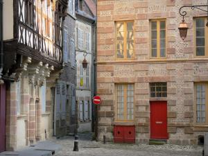 Moulins - Facades of houses in the old town