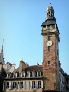 Moulins - Jacquemart (belfry, clock tower) and facades of houses in the old town
