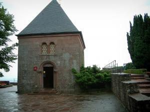 Mount Sainte-Odile - Convent terrace (monastery) with the Tears chapel (chapelle des Larmes)