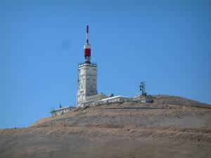 Mount Ventoux - Peak of the mount Ventoux (limestone mountain)