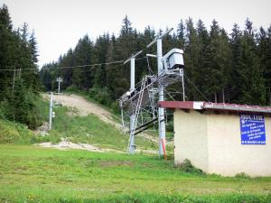 Mouthe valley - Ski lift of the Mouthe ski resort; in the Upper Jura Regional Nature Park