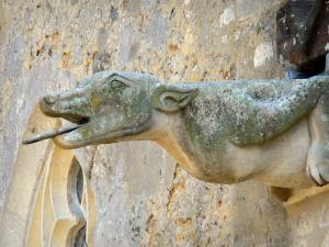 Moutiers-au-Perche - Gargoyle of the Notre-Dame du Mont-Harou church