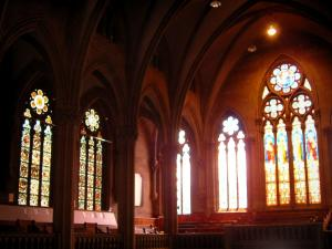 Mulhouse - Inside of the Saint-Etienne temple (stained glass windows)