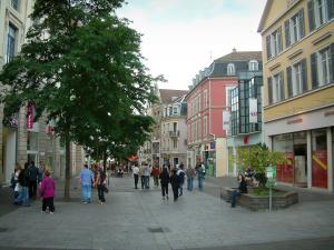 Mulhouse - Trading pedestrian street lined with shops