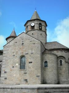 Nasbinals - Sainte-Marie Romanesque church; in the heart of Lozèrian Aubrac