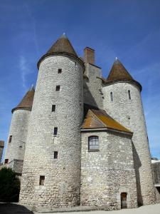 Nemours - Round towers of the medieval castle (castle museum)