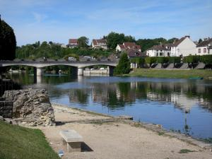 Nemours - Banks of the River Loing and bridge spanning the river