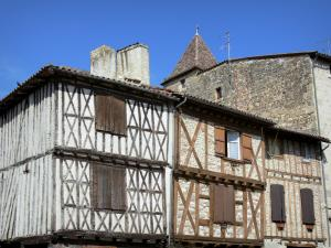 Nérac - Half-timbered houses of the medieval town