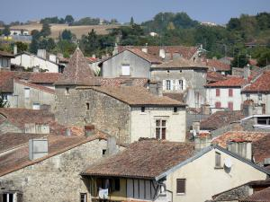 Nérac - Rooftops of the medieval town