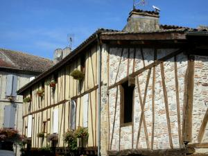 Nérac - Facades of half-timbered houses