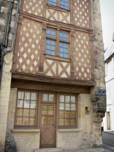 Nevers - Facade of a half-timbered house of the Rue Saint-Étienne street