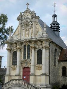 Nevers - Baroque facade of the Sainte-Marie chapel (remains of the Visitation convent)