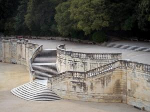 Nîmes - Stairs of the Fontaine garden