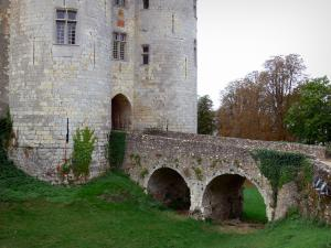Nogent-le-Rotrou - Saint-Jean castle flanked with two round towers and bridge
