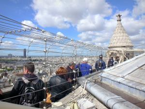Notre-Dame de Paris cathedral - Top of the south tower and its panoramic view of the French capital
