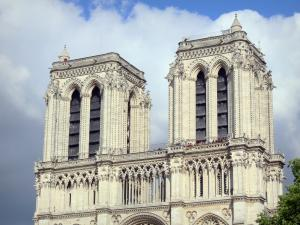 Notre-Dame de Paris cathedral - Towers of the Gothic cathedral