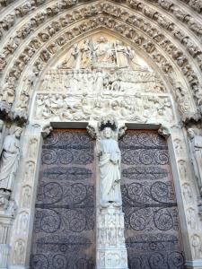 Notre-Dame de Paris cathedral - Portal of the Last Judgement and its carved tympanum