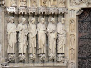 Notre-Dame de Paris cathedral - Sculptures of the central portal