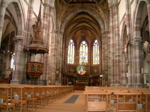 Obernai - Interior of the Saints-Pierre-et-Paul church