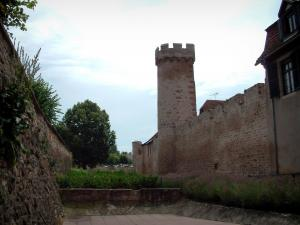 Obernai - Double surrounding walls of the ramparts with towers