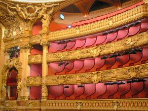 Opéra Garnier - Balconi dell'auditorium italiano