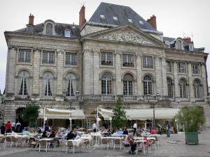 Orléans - Former chancellery and café terrace of the Martroi square