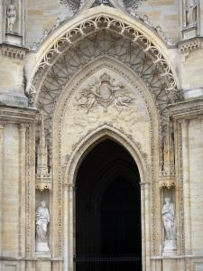Orléans - Portal of the Sainte-Croix cathedral (Gothic building)