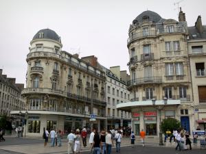 Orléans - Buildings and shops of the Martroi square