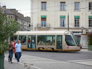 Orléans - Tramway and buildings of the city