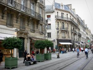 Orléans - Buildings and shops of the République street