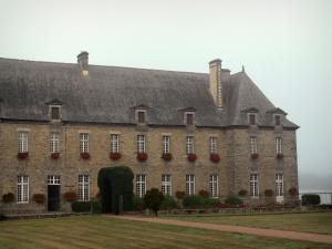 Paimpont - Building of the Notre-Dame abbey home to the town hall
