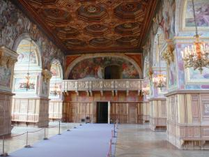 Palace of Fontainebleau - Interior of  the Palace of Fontainebleau: State Apartments: Ballroom