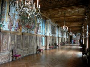 Palace of Fontainebleau - Interior of  the Palace of Fontainebleau: State Apartments: François I Gallery
