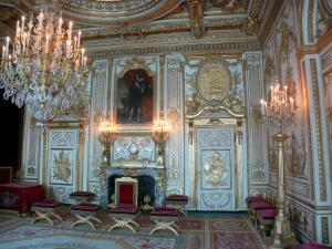 Palace of Fontainebleau - Interior of  the Palace of Fontainebleau: State Apartments: Throne room (former room of the King)