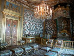 Palace of Fontainebleau - Interior of  the Palace of Fontainebleau: State Apartments: Room of the Empress (former room of the Queen)