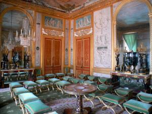 Palace of Fontainebleau - Interior of  the Palace of Fontainebleau: State Apartments: game room of the Queen