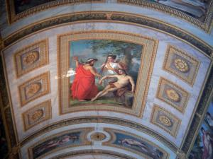 Palace of Fontainebleau - Interior of  the Palace of Fontainebleau: State Apartments: ceiling of the Diane Gallery