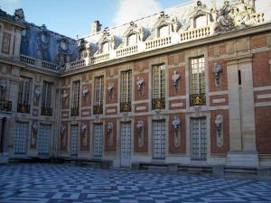 Palace of Versailles - Facade of the castle and the marble yard