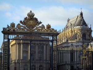 Palace of Versailles - Entrance portal, castle and royal chapel